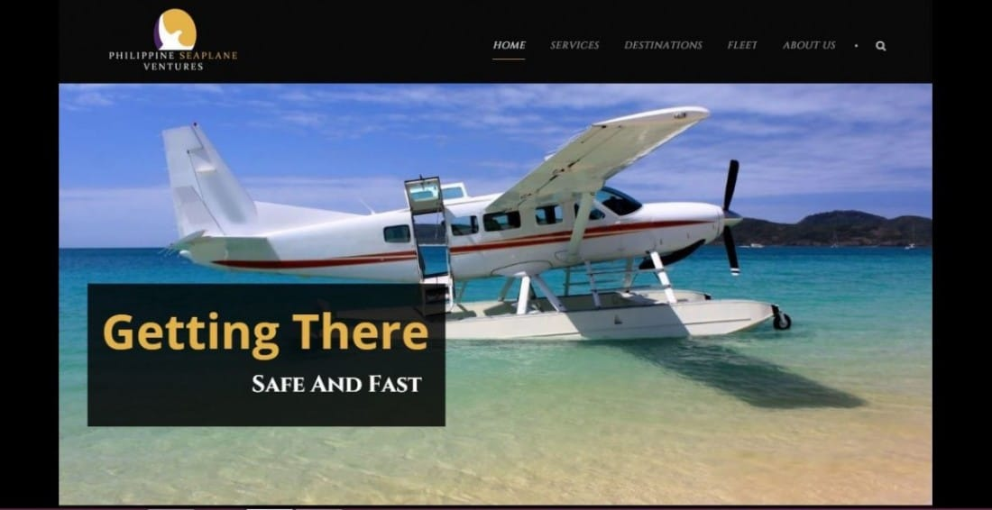 Web Design Project - Philippine Seaplane Ventures
