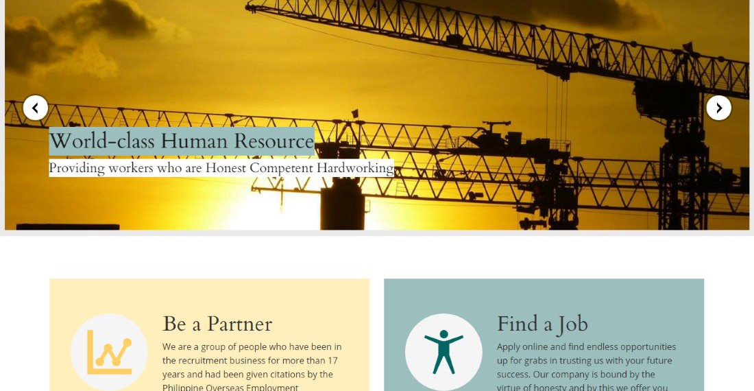 Web Design Project - Global Manpower